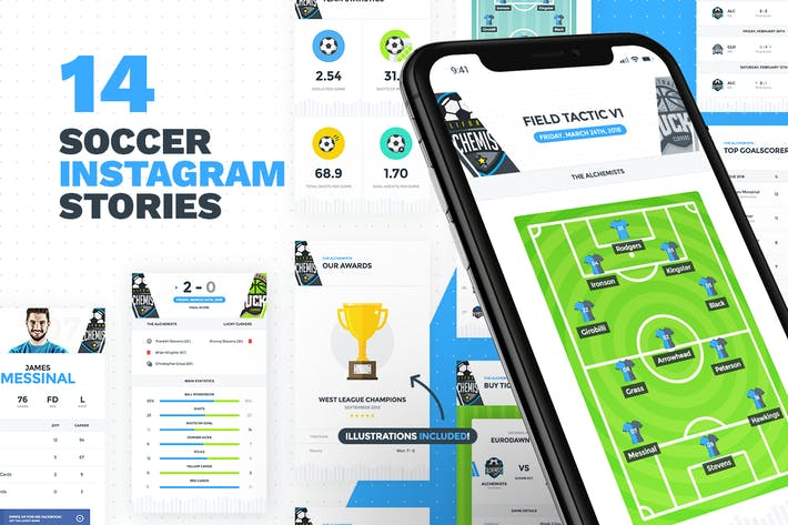 Cover Image For 14 Soccer - Football Instagram Stories