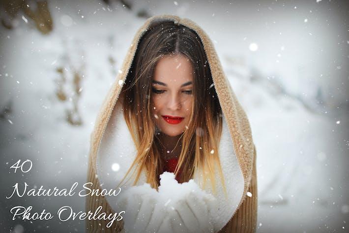 40 Натуральный снег Фото Наложения