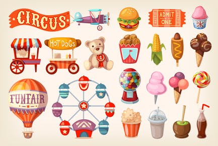 Fun Fair and Traveling Circus Elements