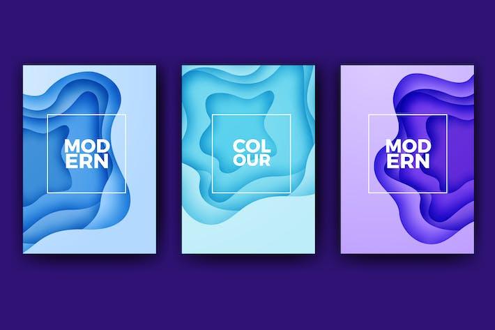 Thumbnail for Moderno Papercut Banner Colleción