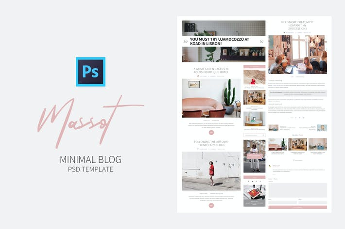 Cover Image For Massot - Clean Blog PSD Template