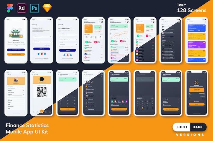 Thumbnail for Finance Mobile App Template UI Kit (Light & Dark)