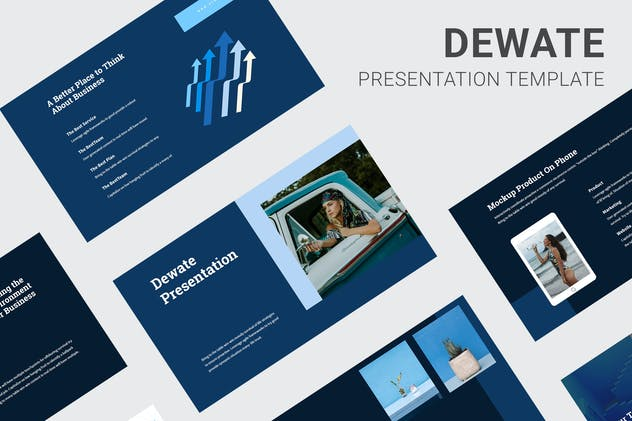 Dewate - Blue Color Tone Keynote