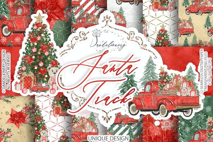 Thumbnail for Christmas Car digital paper pack