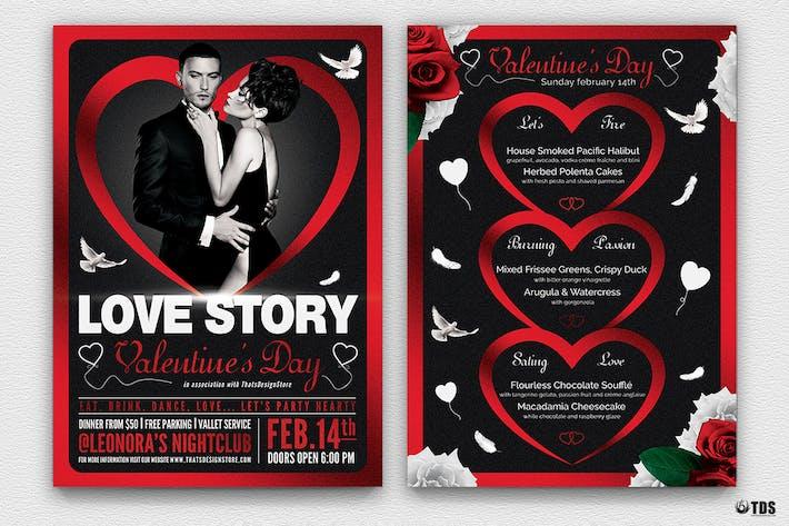 Thumbnail for Valentines Day Flyer+Menu Bundle V4