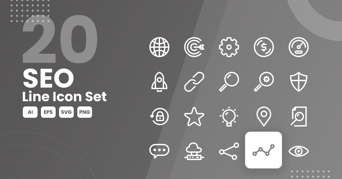 Download 20 SEO Line Icon Set by studiotopia