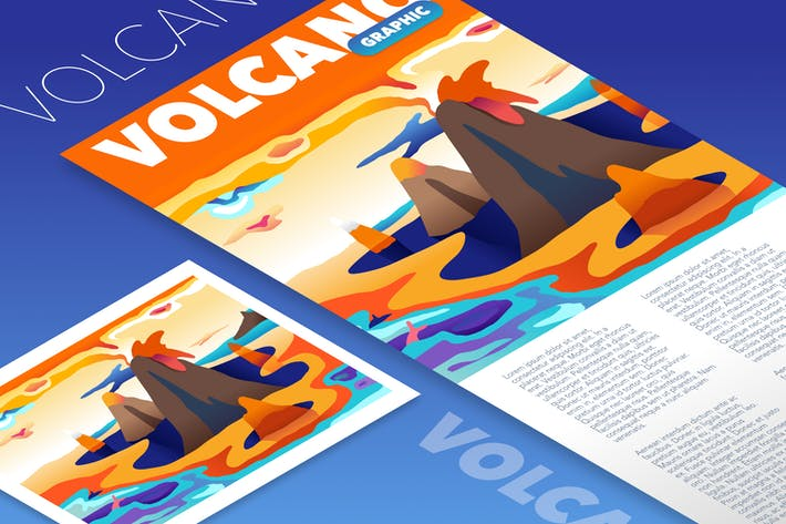 Thumbnail for Volcano mountain graphic