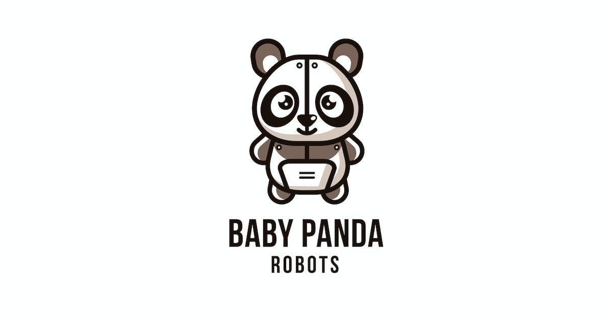 Download Baby Panda Robots Logo Template by IanMikraz