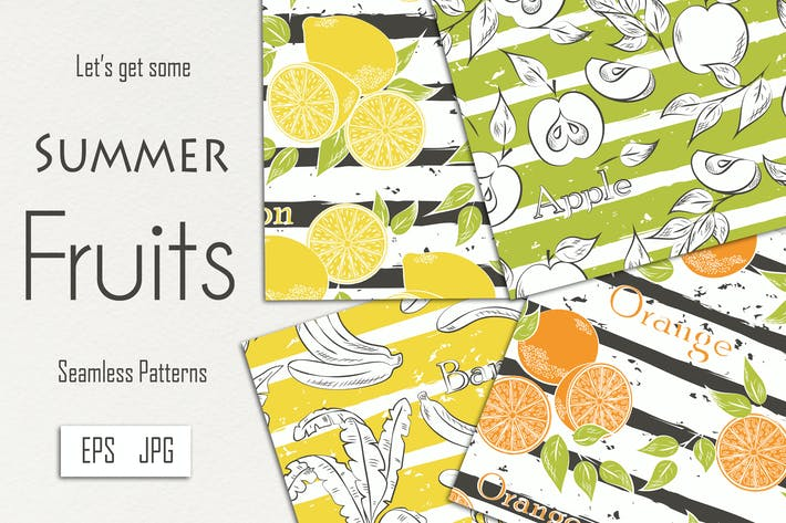 Thumbnail for Fruits on gray stripes