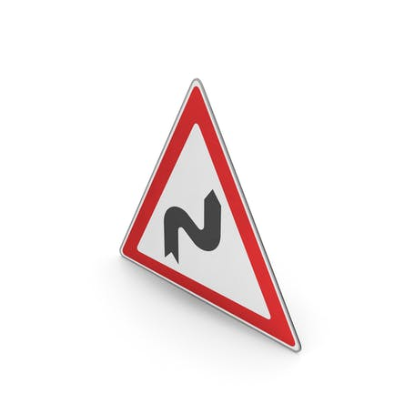Verkehrszeichen Reihe von Kurven Rechts