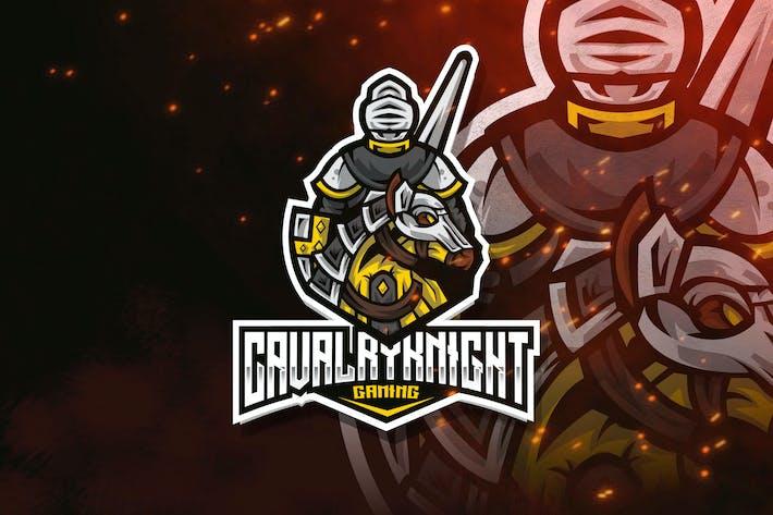 Thumbnail for Cavalry Knight Esport Logo Template
