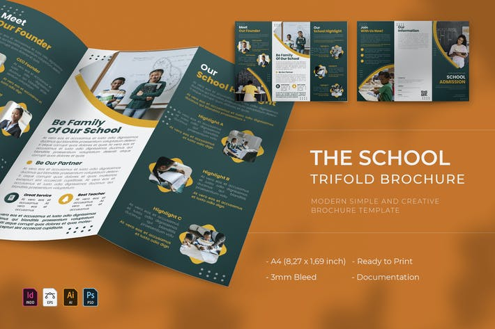 School Registration | Trifold Brochure