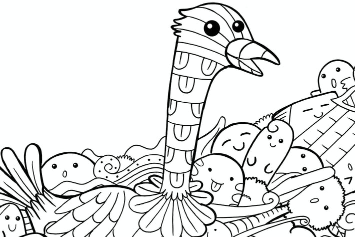 Thumbnail for Ostrich Doodle