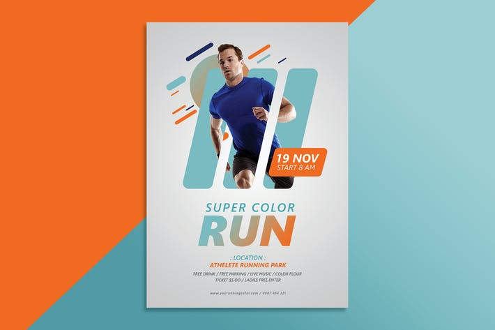Thumbnail for Color Run Flyer