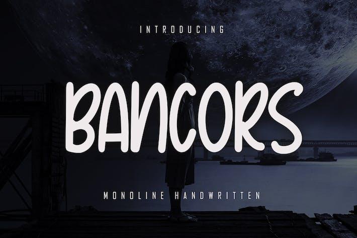 Bancors - Monoline Font
