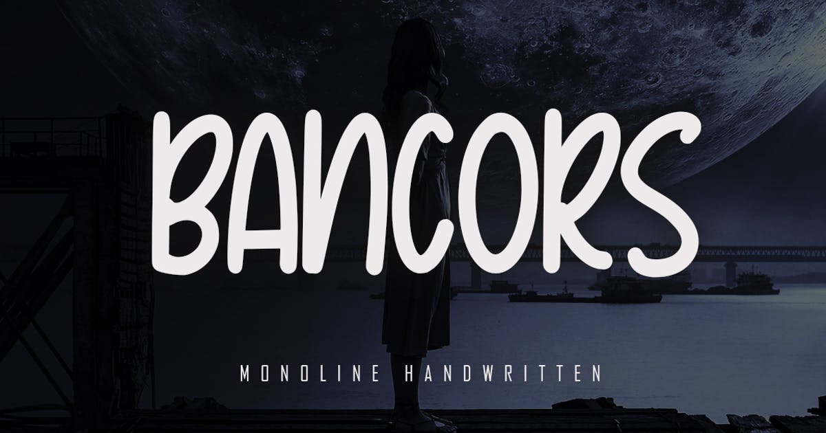 Download Bancors - Monoline Font by Skiiller_studio