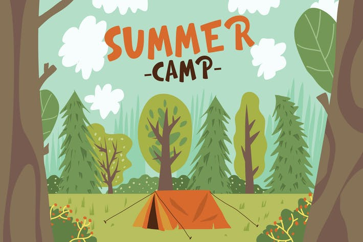 Thumbnail for Summer Camp - Vector Illustration
