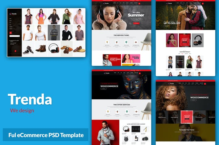Thumbnail for Trenda - Multi Concept eCommerce PSD Template