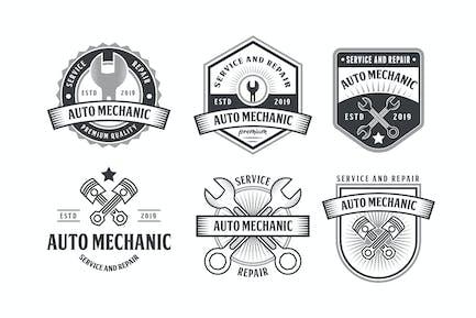 Set of Automotive Mechanic Logo Badge