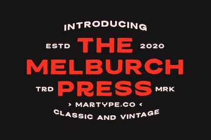 Melburch Press  Typeface