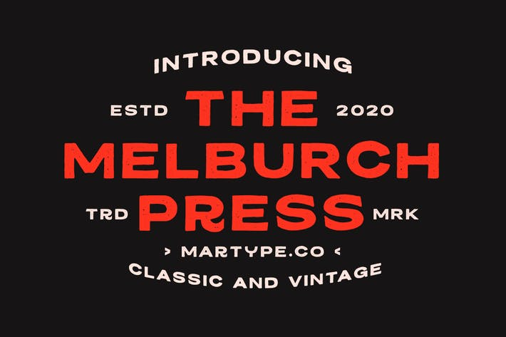 Thumbnail for Melburch Press  Typeface