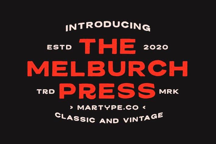 Thumbnail for Melburch Press Tipo de letra