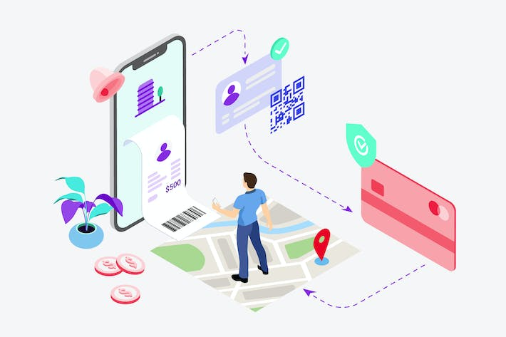 Thumbnail for Apartment Bill Payment Isometric Illustration