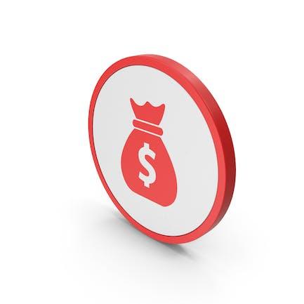 Icon Money Bag Red
