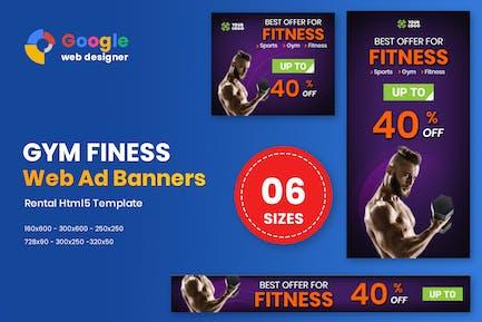 Fitness HTML5 Animate Banner Ads Google Web Design