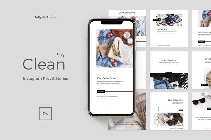 Thumbnail for Clean 4 Instagram Post & Stories