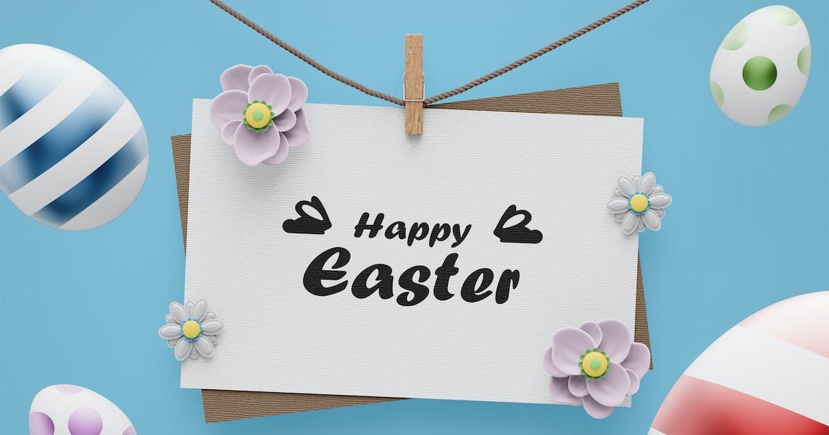 Download Easter Card Mockup Template by EightonesixStudios