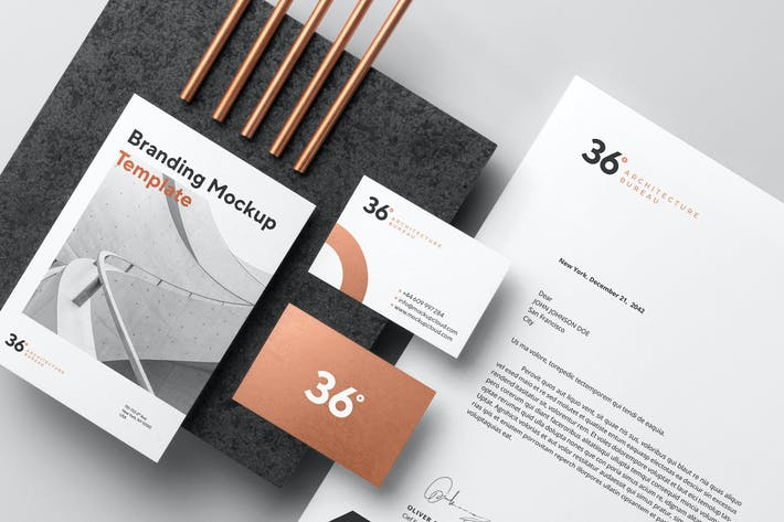 Thumbnail for Copperstone Branding Mockup Vol. 1