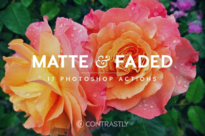 Thumbnail for Matte & Faded Photoshop Actions