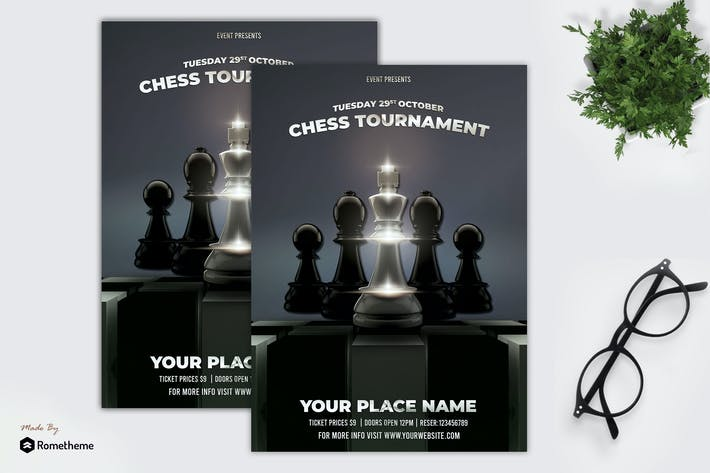 Thumbnail for Chess Flyer Template vol. 01 MR