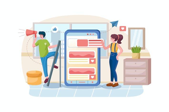 Thumbnail for Développement d'applications et concept de médias sociaux.