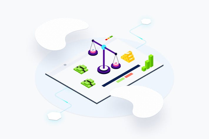 Thumbnail for Blockchain Platform Web Exchange Isometric