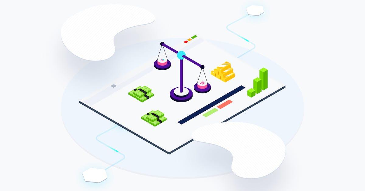 Download Blockchain Platform Web Exchange Isometric by angelbi88