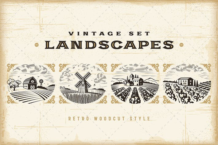 Thumbnail for Vintage Landscapes Set