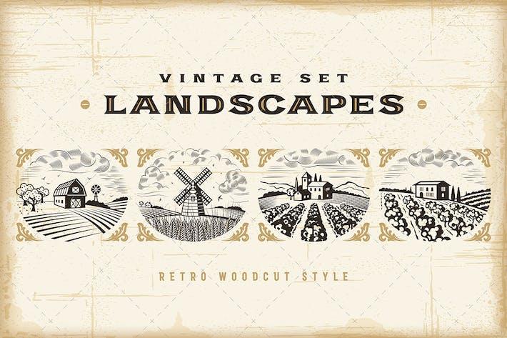 Cover Image For Vintage Landscapes Set