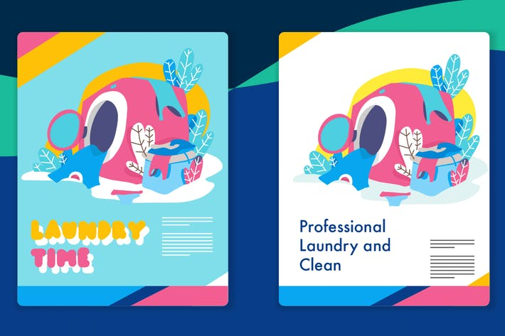 Thumbnail for Laundry Graphic - Mixcolor style vector 7