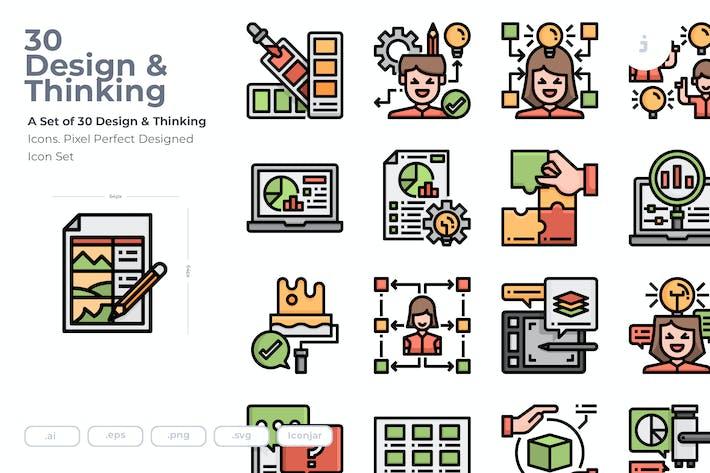 Thumbnail for 30 Иконки к дизайна и мышления