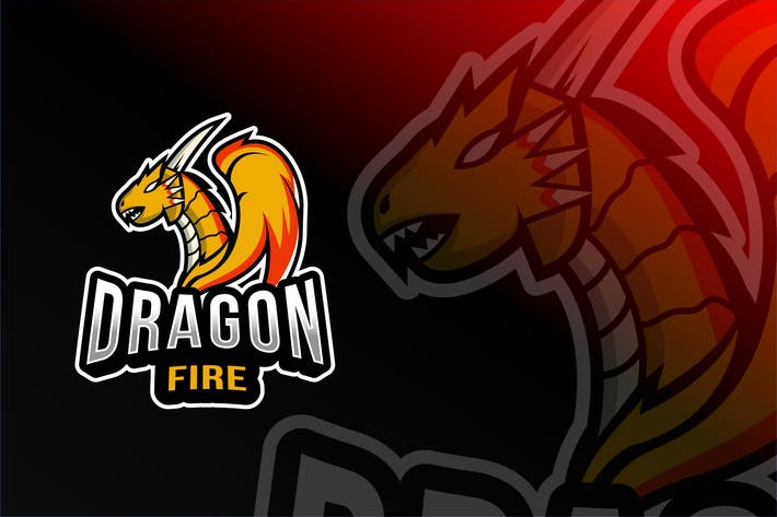 Thumbnail for Dragon Fire Esport Logo Template