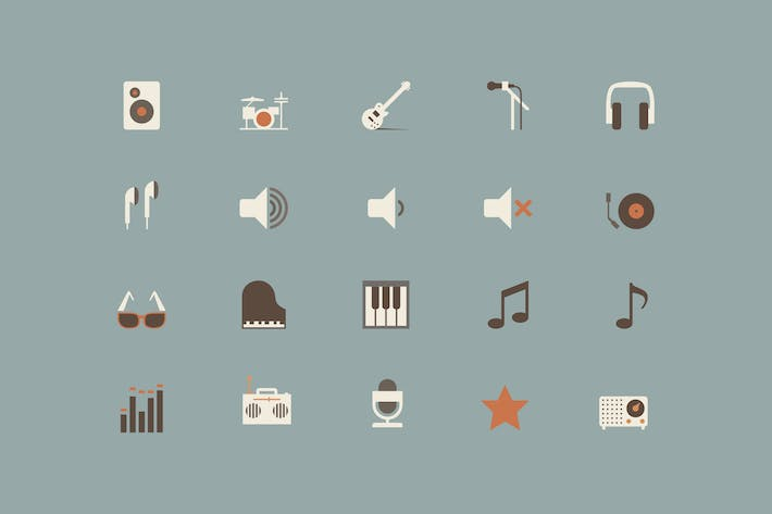 Thumbnail for Music Color Icons