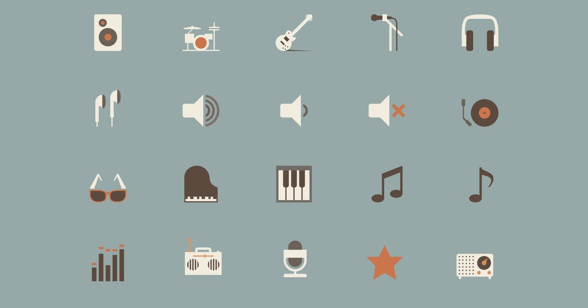 Download Music Color Icons by Jumsoft