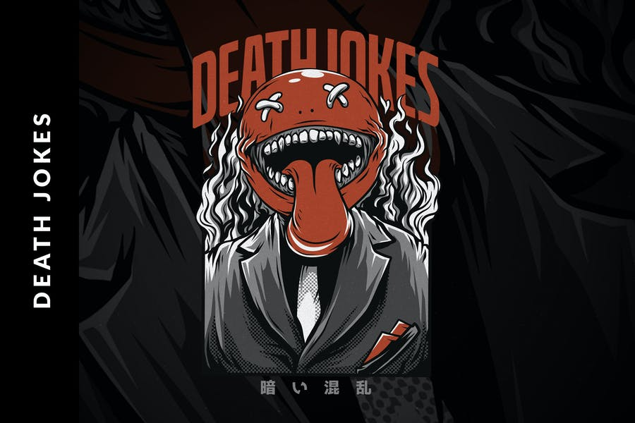 Death Jokes T-Shirt Design