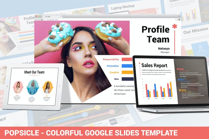 Popsicle - Colorful Google Slide Template