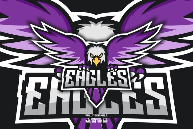 EAGLES LOGO TEMPLATES