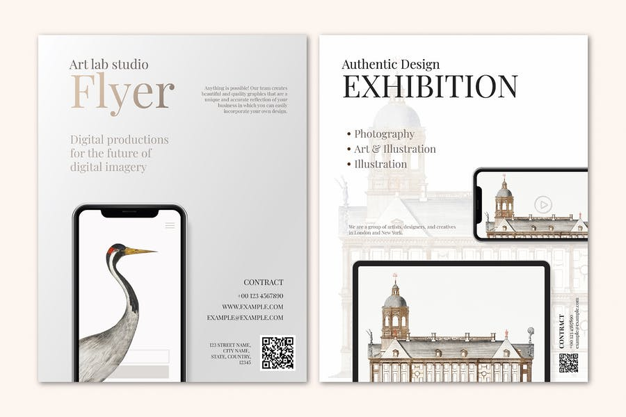 Business-Broschüre Vorlage im eleganten Design