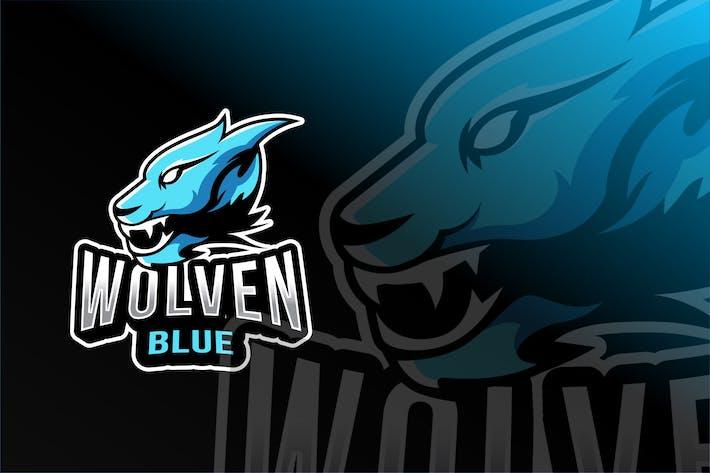 Thumbnail for Wolven Blue Esport Logo Template