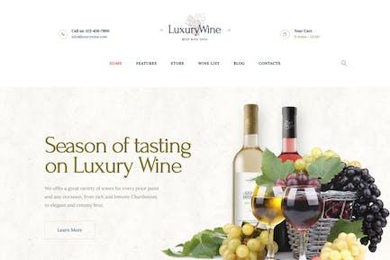 Luxury Wine | Liquor Store & Vineyard WP Theme